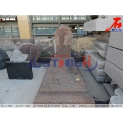 Multicolor Red granite memorial
