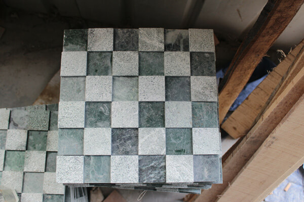 Groene Mozaiek Tegels : Hot sale groene kleur marmeren mozaïek tegels chinese graniet